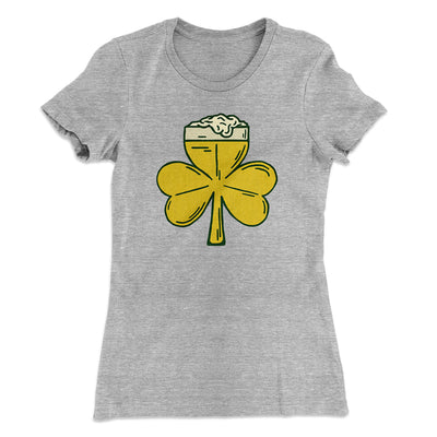 Beer Shamrock Women's T-Shirt - Famous IRL Funny and Ironic T-Shirts and Apparel