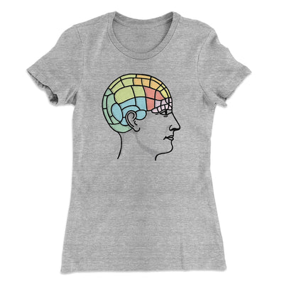 Phrenology Chart Women's T-Shirt-90/10 Heather Gray - Famous IRL