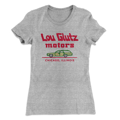 Lou Glutz Motors Women's T-Shirt-90/10 Heather Gray - Famous IRL
