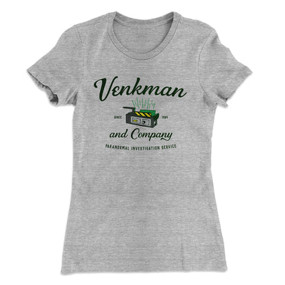 Venkman and Company Women's T-Shirt-90/10 Heather Gray - Famous IRL