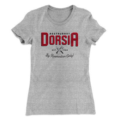 Restaurant Dorsia Women's T-Shirt-90/10 Heather Gray - Famous IRL