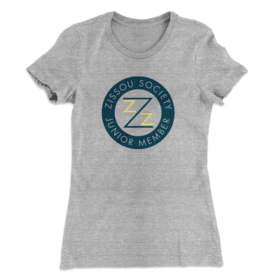 Zissou Society Member Women's T-Shirt-90/10 Heather Gray - Famous IRL