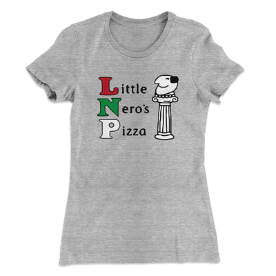 Little Nero's Pizza Women's T-Shirt-90/10 Heather Gray - Famous IRL