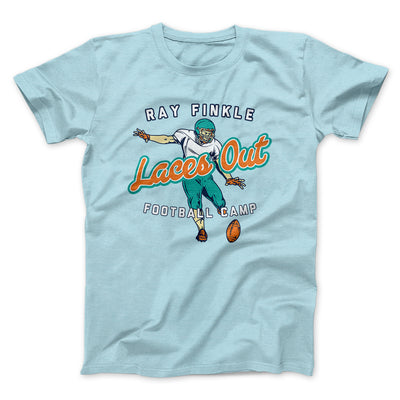 Ray Finkle - Laces Out Men/Unisex T-Shirt-Heather Ice Blue - Famous IRL