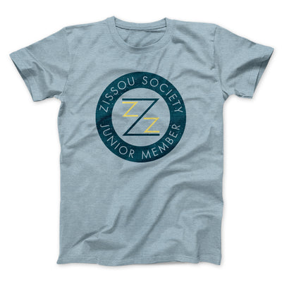 Zissou Society Member Men/Unisex T-Shirt-Heather Ice Blue - Famous IRL