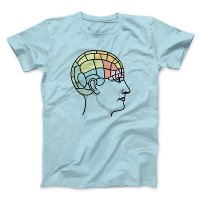 Phrenology Chart Men/Unisex T-Shirt-Heather Ice Blue - Famous IRL
