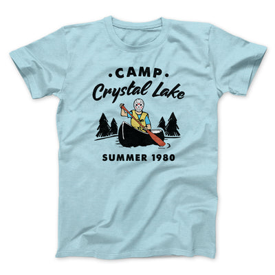 Camp Crystal Lake Men/Unisex T-Shirt-Heather Ice Blue - Famous IRL
