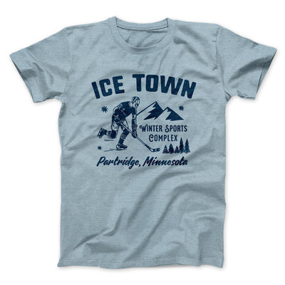 Ice Town Sports Complex Men/Unisex T-Shirt-Heather Ice Blue - Famous IRL