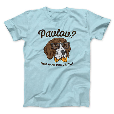 Pavlov's Dog Men/Unisex T-Shirt-Heather Ice Blue - Famous IRL