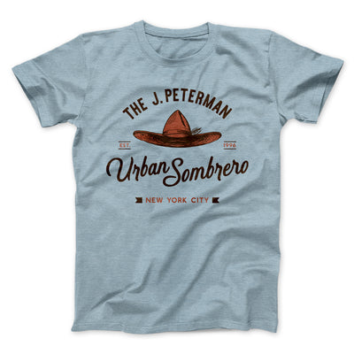 J. Peterman Urban Sombrero Men/Unisex T-Shirt-Heather Ice Blue - Famous IRL