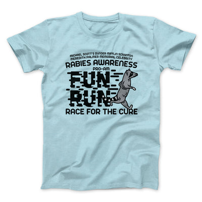 Rabies Awareness Fun Run Men/Unisex T-Shirt-Heather Ice Blue - Famous IRL