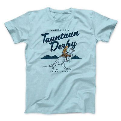 Tauntaun Derby Men/Unisex T-Shirt-Heather Ice Blue - Famous IRL