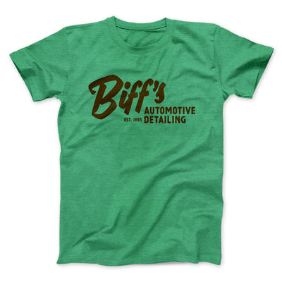 Biff's Auto Detailing Men/Unisex T-Shirt-Heather Kelly - Famous IRL