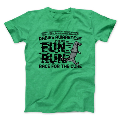Rabies Awareness Fun Run Men/Unisex T-Shirt-Heather Kelly - Famous IRL