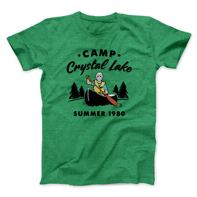 Camp Crystal Lake Men/Unisex T-Shirt-Heather Kelly - Famous IRL