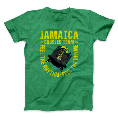 Jamaica Bobsled Team Men/Unisex T-Shirt-Heather Kelly - Famous IRL