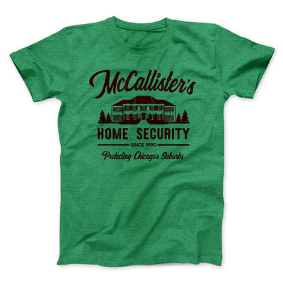 McCallister's Home Security Men/Unisex T-Shirt-Heather Kelly - Famous IRL