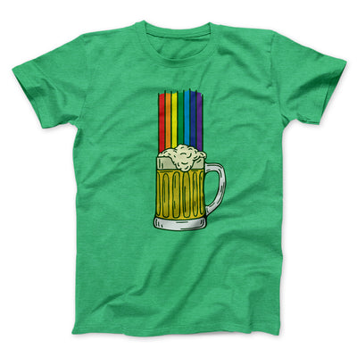 Beer Rainbow Men/Unisex T-Shirt-Heather Kelly - Famous IRL