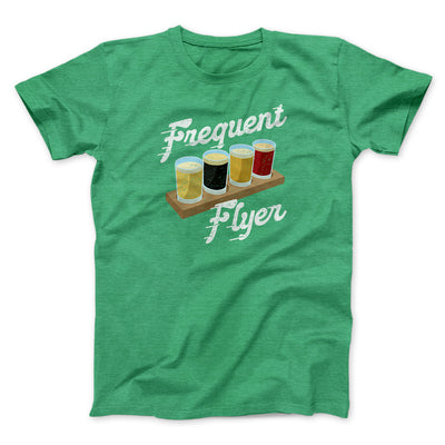 Frequent Flyer Men/Unisex T-Shirt-Men/Unisex T-Shirt-White Label DTG-Heather Kelly-S-Famous IRL