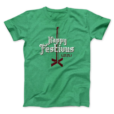 Happy Festivus For The Rest of Us Men/Unisex T-Shirt-T-Shirt-Printify-Heather Kelly-S-Famous IRL