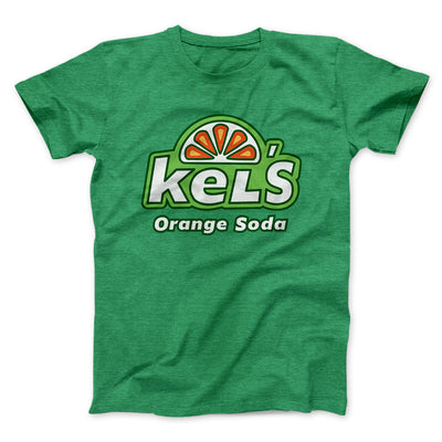 Kel's Orange Soda Men/Unisex T-Shirt-Heather Kelly - Famous IRL