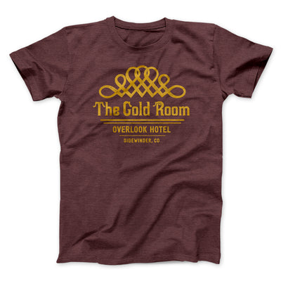 The Gold Room Men/Unisex T-Shirt-Men/Unisex T-Shirt-White Label DTG-Heather Maroon-S-Famous IRL