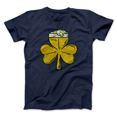 Beer Shamrock Men/Unisex T-Shirt - Famous IRL Funny and Ironic T-Shirts and Apparel