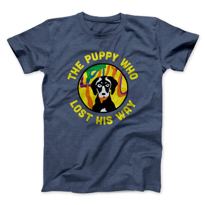 The Puppy Who Lost His Way Men/Unisex T-Shirt-Heather Navy - Famous IRL
