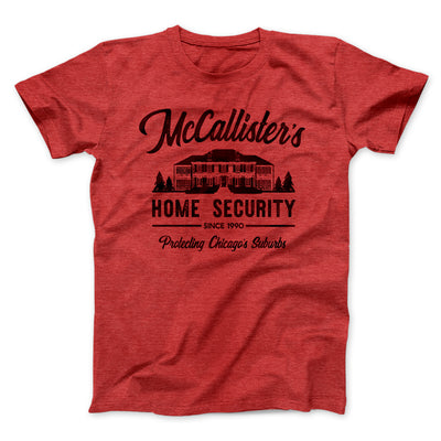 McCallister's Home Security Men/Unisex T-Shirt-Heather Red - Famous IRL