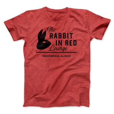 The Rabbit in Red Lounge Men/Unisex T-Shirt-Heather Red - Famous IRL