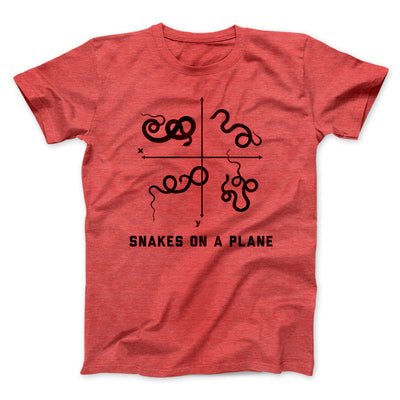 Snakes on a Plane Men/Unisex T-Shirt-Heather Red - Famous IRL