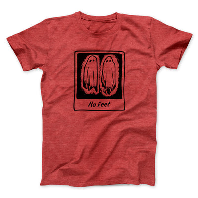 No Feet Men/Unisex T-Shirt-Heather Red - Famous IRL