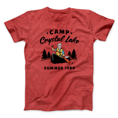 Camp Crystal Lake Men/Unisex T-Shirt-Heather Red - Famous IRL