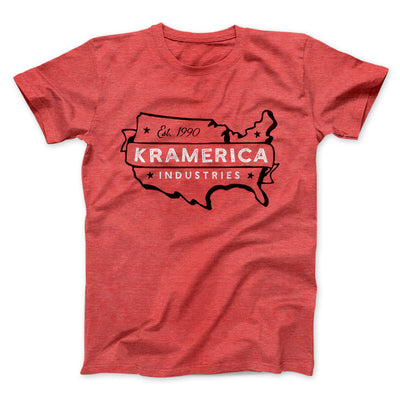 Kramerica Industries Men/Unisex T-Shirt-Heather Red - Famous IRL