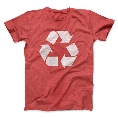 Recycle Symbol Men/Unisex T-Shirt-Heather Red - Famous IRL