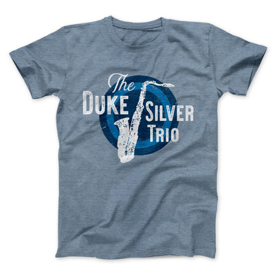 Duke Silver Trio Men/Unisex T-Shirt-Heather Slate - Famous IRL