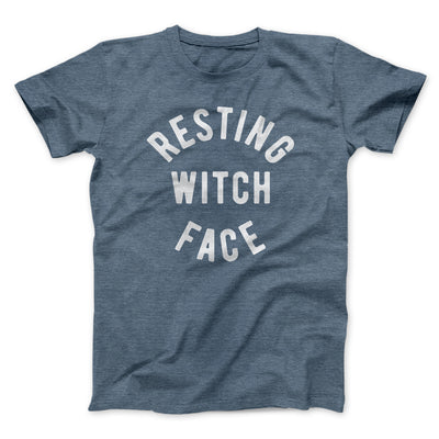 Resting Witch Face Men/Unisex T-Shirt-Heather Slate - Famous IRL