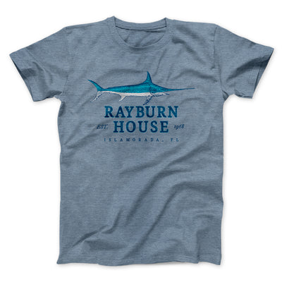 Rayburn House Men/Unisex T-Shirt-Heather Slate - Famous IRL