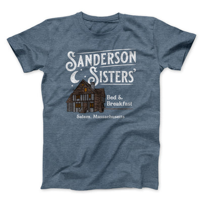 Sanderson Sisters' Bed & Breakfast Men/Unisex T-Shirt-T-Shirt-Printify-Heather Slate-S-Famous IRL