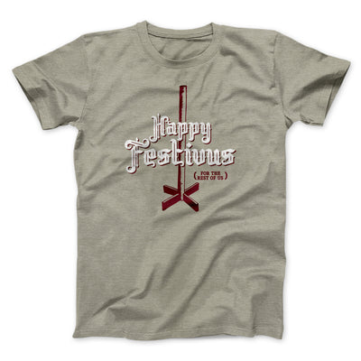 Happy Festivus For The Rest of Us Men/Unisex T-Shirt-T-Shirt-Printify-Heather Stone-S-Famous IRL