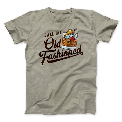 Call Me Old Fashioned Men/Unisex T-Shirt-Heather Stone - Famous IRL