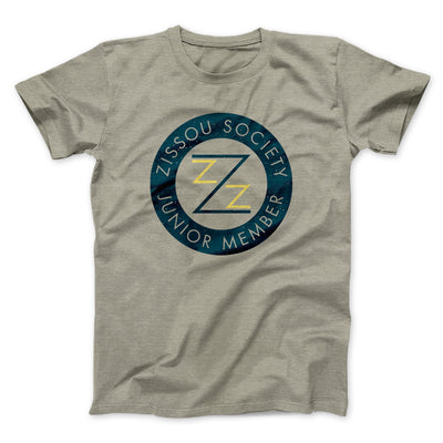 Zissou Society Member Men/Unisex T-Shirt-Heather Stone - Famous IRL