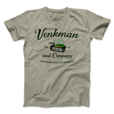 Venkman and Company Men/Unisex T-Shirt-Heather Stone - Famous IRL
