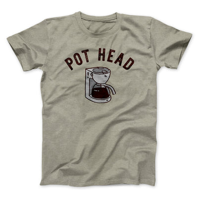 Pot Head Men/Unisex T-Shirt-Heather Stone - Famous IRL