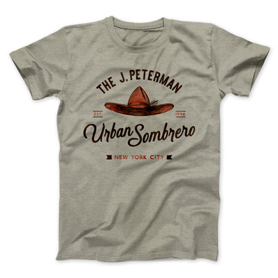 J. Peterman Urban Sombrero Men/Unisex T-Shirt-Heather Stone - Famous IRL