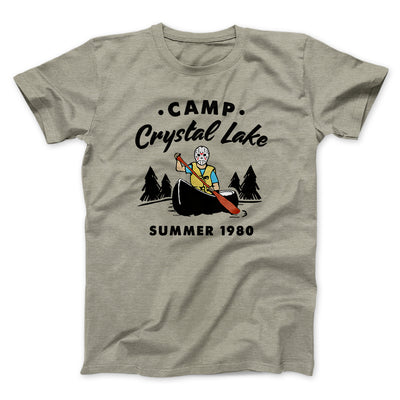Camp Crystal Lake Men/Unisex T-Shirt-Heather Stone - Famous IRL