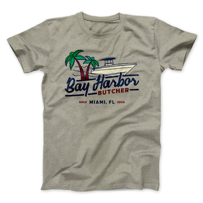 Bay Harbor Butcher Men/Unisex T-Shirt-Heather Stone - Famous IRL