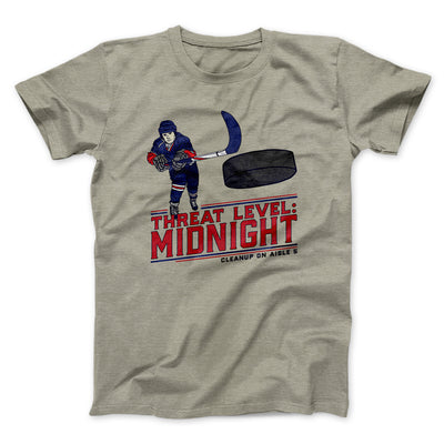 Threat Level: Midnight Men/Unisex T-Shirt-Heather Stone - Famous IRL