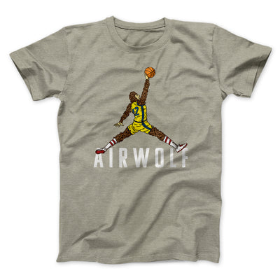 Air Wolf Men/Unisex T-Shirt-Heather Stone - Famous IRL