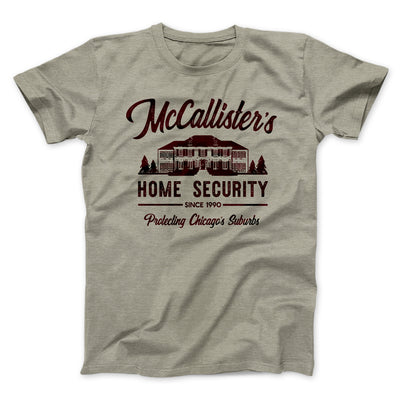 McCallister's Home Security Men/Unisex T-Shirt-Heather Stone - Famous IRL